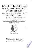 La littérature française aux XIXe et XXe siècles