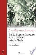 La littérature française du XIXe siècle mise à l'Index