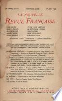 La Nouvelle Revue Française N' 117 (Juin 1923)