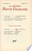 La Nouvelle Revue Française n° 203 (Novembre 1969)