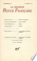La Nouvelle Revue Française N° 213
