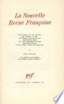 La Nouvelle Revue Française N° 228