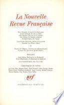 La Nouvelle Revue Française N° 237