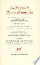 La Nouvelle Revue Française N° 289