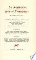 La Nouvelle Revue Française N° 294