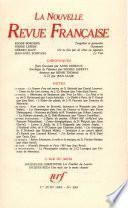 La Nouvelle Revue Française N° 389