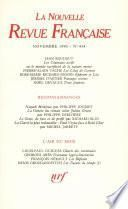 La Nouvelle Revue Française N° 454