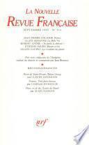 La Nouvelle Revue Française N° 512