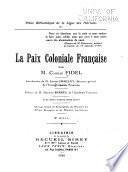 La paix coloniale française