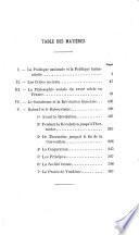 La philosophie sociale du XVIIIe siècle et la révolution