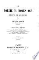 La poésie du moyen âge