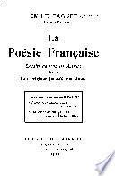 La poésie française