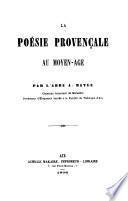 La poésie provençale au moyen-age