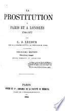 (La) prostitution à Paris et à Londres, 1789-1877