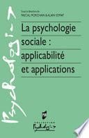 La psychologie sociale : applicabilité et applications