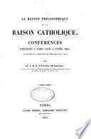 La raison philosophique et la raison catholique