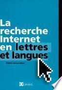 La recherche Internet en lettres et langues
