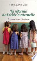 La réforme de l'école maternelle