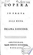 La répétition ordinaire de l'opera. Pièce comique