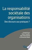 La responsabilité sociétale des organisations