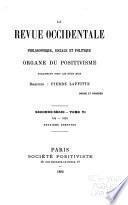 La Revue occidentale philosophique, sociale et politique