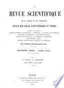 La Revue scientifique de la France et de l'étranger