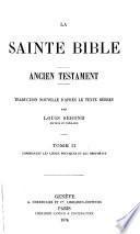 La Sainte Bible, Ancien Testament