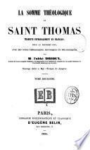 La Somme théologique de Saint Thomas