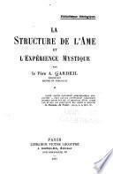 La structure de l'ame et l'ewperience mystique
