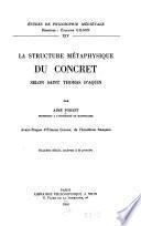La structure métaphysique du concret selon St. Thomas d'Aquin
