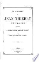 La succession de Jean Thierry de Venise