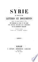 La Syrie en 1860 et 1861