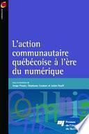 Laction communautaire québécoise à l'ère du numérique