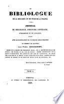 Le Bibliologue de la Belgique et du Nord de la France