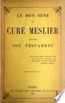 Le bon sens du curé Meslier
