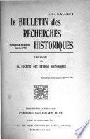 Le Bulletin des recherches historiques