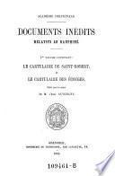 Le cartulaire de Saint-Robert, et le cartulaire des Écouges