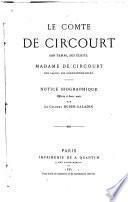 Le comte de Circourt