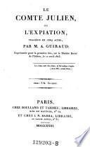 Le comte Julien, ou l'expiation, tragedie en 5 actes