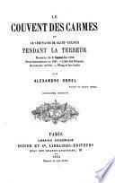 Le Couvent des Carmes et le séminaire de Saint-Sulpice pendant la Terreur