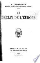 Le déclin de l'Europe