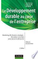 Le développement durable au coeur de l'entreprise- 2e édition