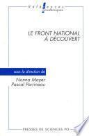 Le Front national à découvert