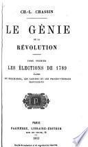 Le génie de la révolution ...: ptie. Les cahiers de 1789