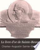 Le livre d'or de Sainte-Beuve
