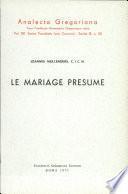 Le mariage présumé