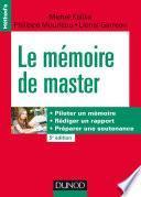 Le mémoire de master - 5e éd.