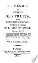 Le ménage ou l'emploi des fruits dans l'économie domestique