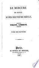 Le Mercure de France au dix-neuvième siècle