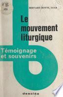 Le mouvement liturgique